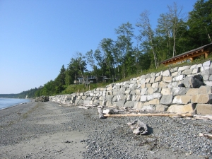 coastal armoring, marine, conservation, Whidbey Island, Washington, Beach